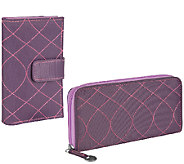 Travelon RFID Embroidered Wallet Set - F11914