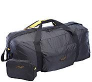 A.Saks 36 Lightweight Parachute Nylon Duffel Bag w/ Pouch - F249114