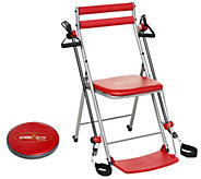 Chair Gym Workout with 3 Levels of Resistance and 5 DVDs - F13315