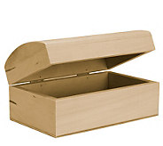 Basswood Rounded Trunk Box - F190716