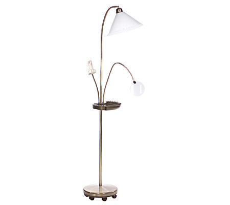 sewing craft floor lamp with organizer tray and With floor lamp with magnifier for sewing