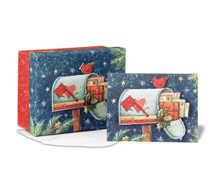 C.R. Gibson Susan Winget Cards Christmas Mailbox