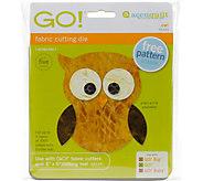 AccuQuilt GO! Fabric Cutting Dies - Owl - F249917