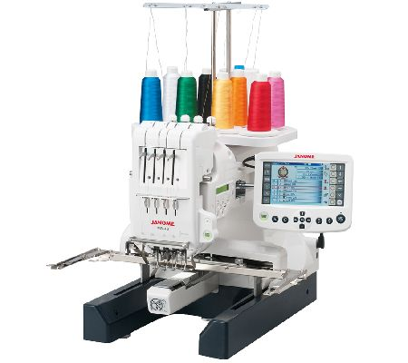 Janome MB4S FourNeedle Embroidery Machine  QVC