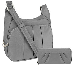 Travelon Anti-Theft Convertible Hobo with RFID Blocking Wallet