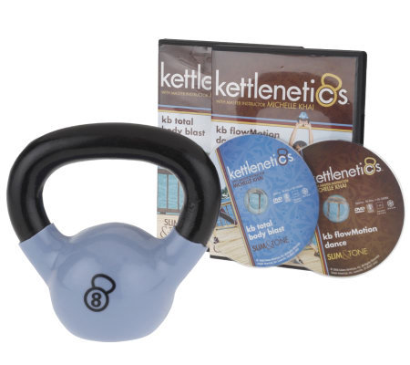 Kettlenetics Advanced Slim & Tone 8lb KBell and 2 Workout DVDs