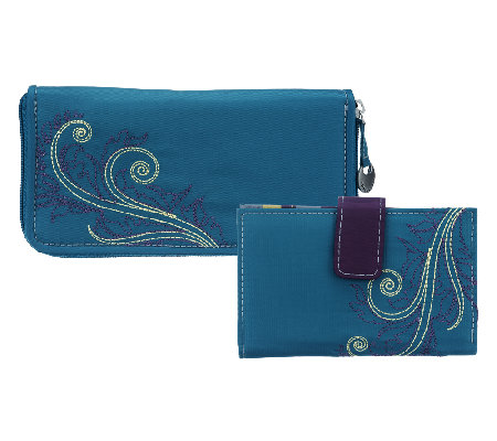 Travelon Feather RFID Wallet Set