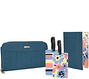 Travelon RFID Wallet, Passport Case & Luggage Tag Travel Set - F12226