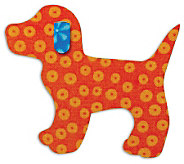 GO! Baby Fabric Cutting Dies - Gingham Dog - F246726