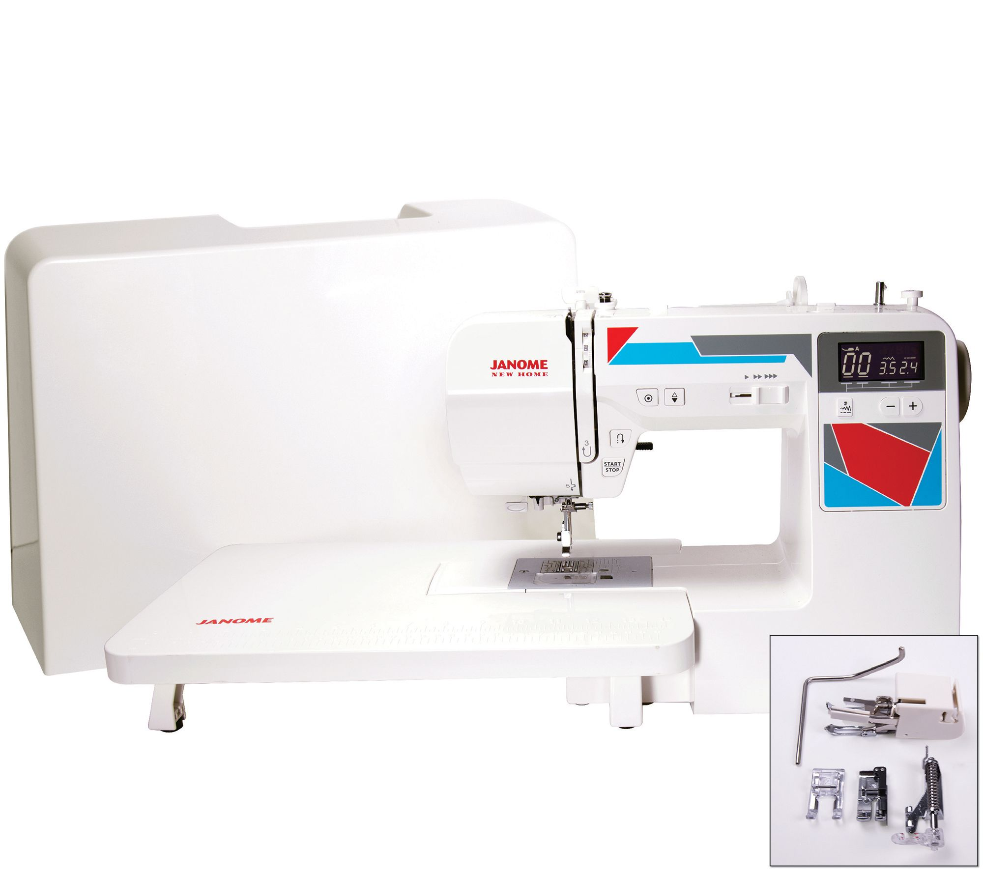 Janome memory craft 6500p - Janome Mod 100q Quilting Machine With Accessories F249726