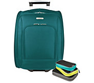Travelon 18 Wheeled Carry On Bag with Packing Squares - F12228