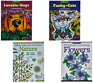 Set of 4 Nature and Pet Inspired Coloring Books By: Fox Chapel - F12329