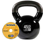 GoFit Kettlebell & DVD (45 lbs/Black) - F248629