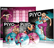 PiYo Workout Package w/10 Workouts & Get Lean Eating Plan by Chalene - F12330