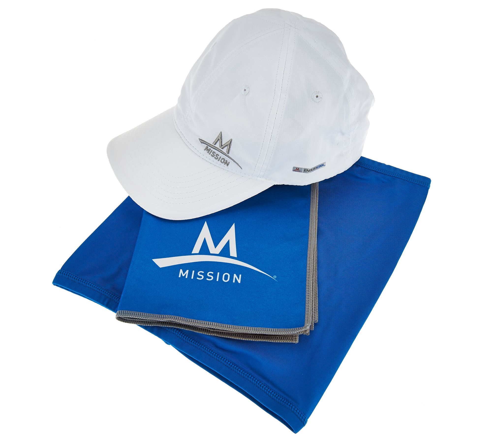 mission cooling towel performance hat and 5 in 1 multi