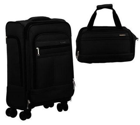 samsonite expandable spinner pilot case w boarding bag page 1. Black Bedroom Furniture Sets. Home Design Ideas