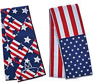 Mission Set of 2 Large Americana Cooling Towels - F12334