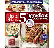 Taste of Home 5 Ingredient and Make Ahead Large Print Cookbooks - F12434