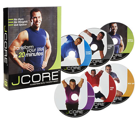 JCORE 6 DVD Body Transformation Program with Meal Plan