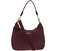Travelon Anti-Theft Side Pocket Hobo with Double Strap - F12936