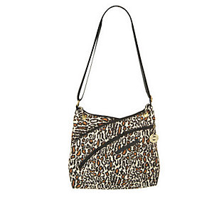 Product image of Travelon Crinkle Nylon 3 Compartment Shoulder Bag w/ZipperAccents