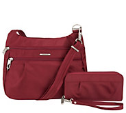 Travelon Anti-Theft Double Zip Crossbody Bag & Wallet Set - F12940