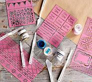 Bo Bunny Glitter Paste Starter Kit with Stickable Stencils - F13041