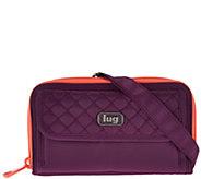 Lug Convertible RFID Wallet with Strap -Kickflip - F12344