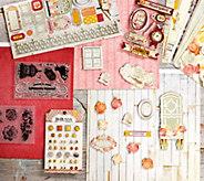 Bo Bunny Paper, Embellishment, and Stamp Bundle Set - F13044