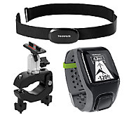 TomTom Multi-Sport GPS & Heart Rate Monitor Watch w/Bike Mount - F249248