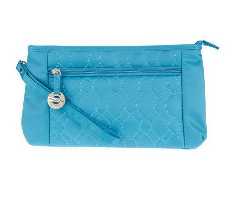 Travelon Convt. Quilted Wristlet Waist Pouch & Crossbody Bag 83