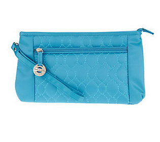 Travelon Convt. Quilted Wristlet Waist Pouch & Crossbody Bag 61