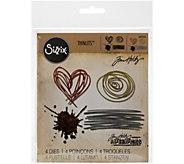 Sizzix Thinlits 4-Piece Scribbles & Splat Die Set by Tim Holtz - F249949