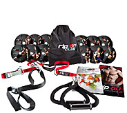 Rip:60 Home Suspension Trainer Gym Set and Fitness DVDs - F247753