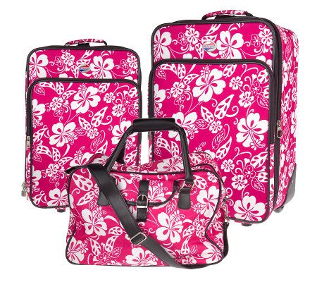 Hawaiian Luggage Sets Floral Print Luggage Set