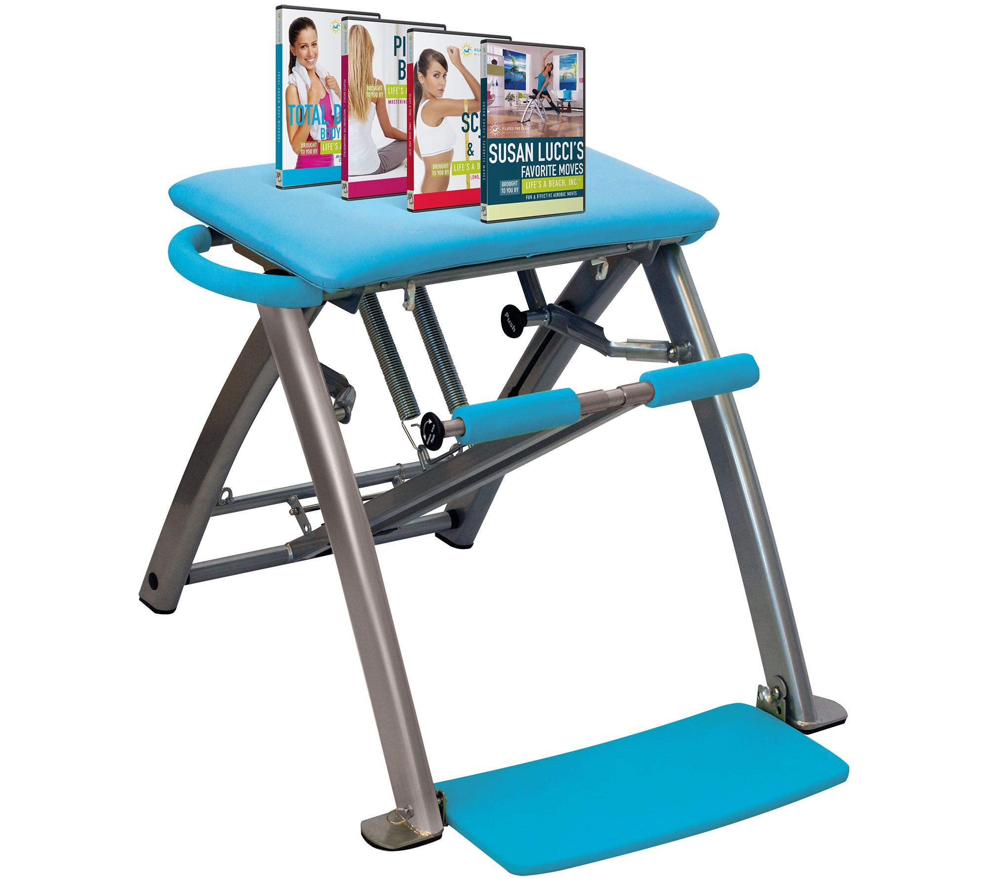 Pilates Pro Chair With 4 Dvds By Life S A Beach Smart: Pilates PRO Chair With 4 DVD's By Life's Life's A Beach