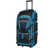 Travelers Club 30 Multi-Pocket Sports RollingDuffel - F249356