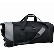 Travelers Club 32 Large Collapsible Two-TonedRolling Duffel - F249358