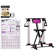 Master Gym Compact Fitness Chair with DVD and Wall Chart - F12059