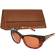 Haven Metal Crosshatch Fits Over Sunglasses with Case - F12159