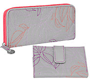 Travelon RFID Leaf Embroidered Wallet Set - F11860