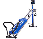 Total Gym Ultima Blue with 3 DVDs, 2 Floor Mats & 10 Attachments - F12060