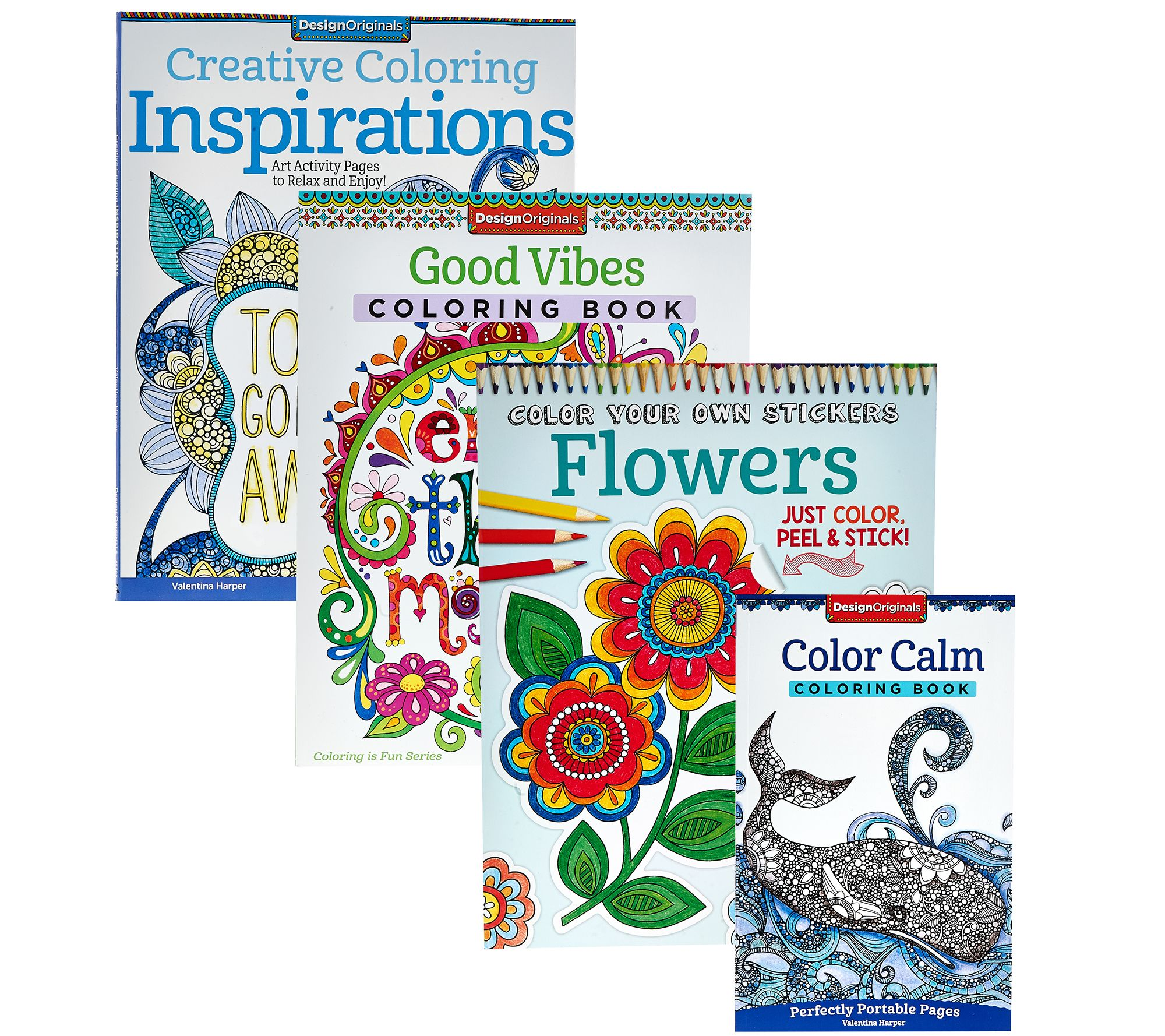Fox Chapel Publishing Set of 4 Adult Coloring Books