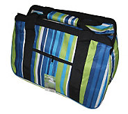 Janet Basket Blue Stripes Eco Bag -18x10x12 - F246760