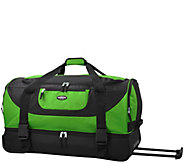 Travelers Club 30 2-Section Drop-Bottom Rolling Duffel - F249360
