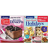 Taste of Home Holiday & Celebrations and Best Loved Desserts Set - F12362