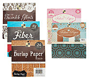 DCWV S/2 Adhesive Fabric Paper w/3 Textured Paper Stacks - F11463