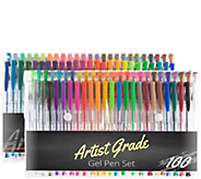 Set of 100 Gel Pen Set by Artist Grade - F249863