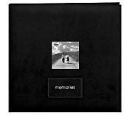Embroidered Patch Faux Suede Frame Postbound Album - F190764