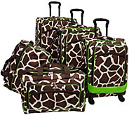 American Flyer Animal Print 5-Piece Spinner Luggage Set - F249064